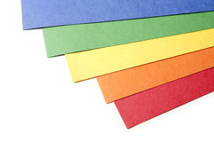 Bright Color Craft paper. Isolated on white background Stock Photos