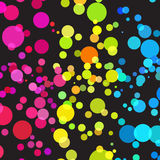 Bright color dots pattern Stock Images