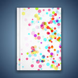 Bright color dots shimmer folder template. Vivid transparent mes Royalty Free Stock Image