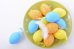 Bright Color Easter Eggs Stock Photo