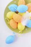 Bright Color Easter Eggs Royalty Free Stock Photography