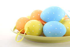 Bright Color Easter Eggs Stock Photos