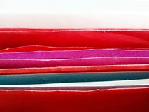 Bright color of envelopes stock image