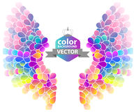 Bright color floral background with wings Royalty Free Stock Photos