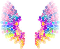 Bright color floral background with wings Stock Photo