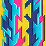 Bright color geometric seamless pattern Royalty Free Stock Photos