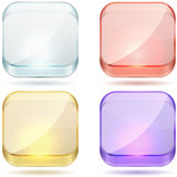 Bright color glass buttons. Royalty Free Stock Photos
