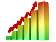 Bright color graph Royalty Free Stock Image