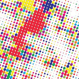 Bright color halftone background Royalty Free Stock Photography