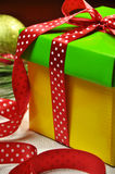 Bright Color holiday present gift Close-up Stock Photos