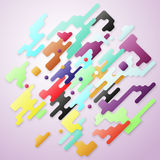 Bright color lines and dots, colorful minimalist design with geometric shapes forming abstract beautiful background Royalty Free Stock Photography