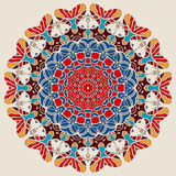Bright Color Mandala Round Lace Design Royalty Free Stock Image