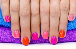 Bright color manicure Royalty Free Stock Images