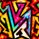 Bright color maze seamless pattern. Royalty Free Stock Photography