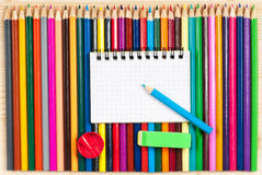Bright color pencils Royalty Free Stock Photography