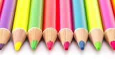 Bright color pencils Royalty Free Stock Photos