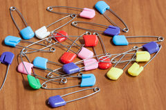 Bright color pins Stock Images