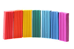 Bright color plasticine Royalty Free Stock Photos