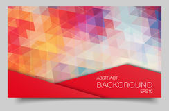 Bright color polygonal banner Royalty Free Stock Photo
