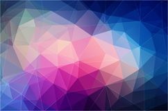 Bright color polygonal wallpaper Stock Images