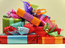 Bright Color Present Festive Gifts Royalty Free Stock Image