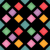 Bright color rhombus seamless pattern background Royalty Free Stock Photography