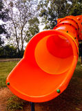 Bright color slide. In the playground stock photo