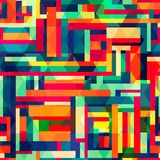 Bright color square seamless pattern Stock Photography