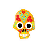 Bright Color Traditional Mexican Painted Scull Icon Royalty Free Stock Photography