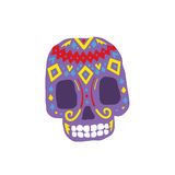 Bright Color Traditional Mexican Painted Scull Icon Stock Photo