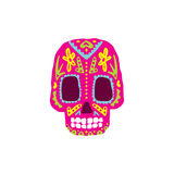 Bright Color Traditional Mexican Painted Scull Icon Royalty Free Stock Photo