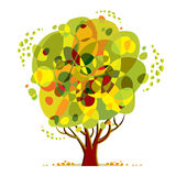 Bright color tree. Royalty Free Stock Photography