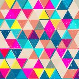 Bright color triangle seamless pattern Stock Photo