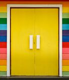 Bright color wood door Royalty Free Stock Images