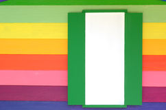 Bright color wood window Stock Photography