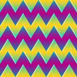 Bright color zigzag seamless pattern. Eps 10 vector file Royalty Free Stock Photos