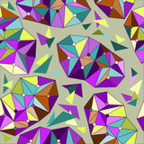 Bright colored abstract geometric seamless pattern background Stock Photography