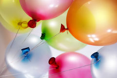 Bright colored balloons Royalty Free Stock Images