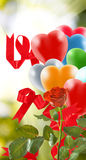 Bright colored balloons in the sky Royalty Free Stock Photos