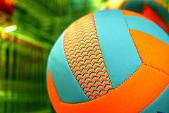 Bright colored balls for basketball, volleyball. Or just to play games on the nature stock photography
