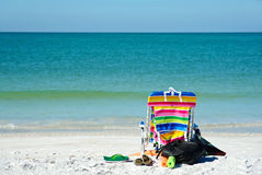 Bright Colored Beach Chair Royalty Free Stock Images
