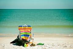 Bright Colored Beach Chair Stock Photos