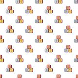 Bright colored bricks pattern seamless Stock Image