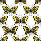 Bright colored butterflies seamless pattern Stock Photo