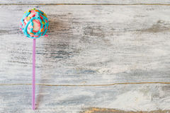 Bright-colored cake pop. Stock Image