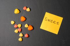 Bright colored candy, sweets, sweets Royalty Free Stock Images