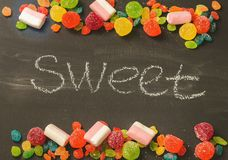 Bright colored candy, sweets, sweets Royalty Free Stock Image