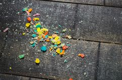 Bright colored candy, sweets, sweets on a dark background Royalty Free Stock Images