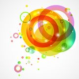 Bright colored circles on a white background Stock Photos