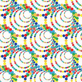 Bright colored circles on a white background seamless pattern vector illustration. (vector eps 10 Royalty Free Stock Photo
